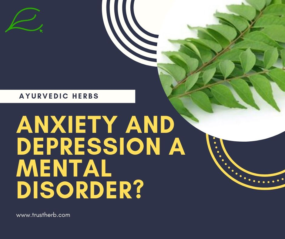 anxiety depression a mental disorder | Buy Ayurvedic Herbs & Products Online | Certified by Ayurveda Doctors | 100% genuine | Trustherb Ayurvedic products marketplace